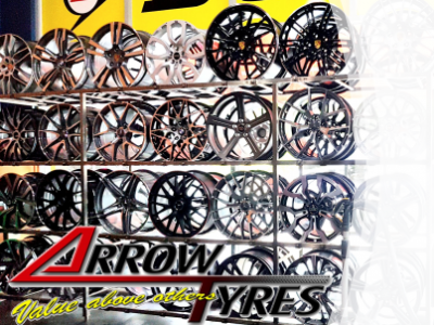 car accessories shop carrying rims of all designs